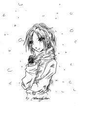 Snow girl sketch